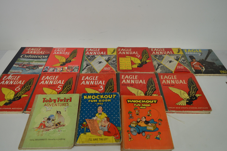 Vintage British Comics Annuals.