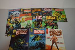 Doc Savage; Marvel; Bizarre Adventures, all by Curtis.