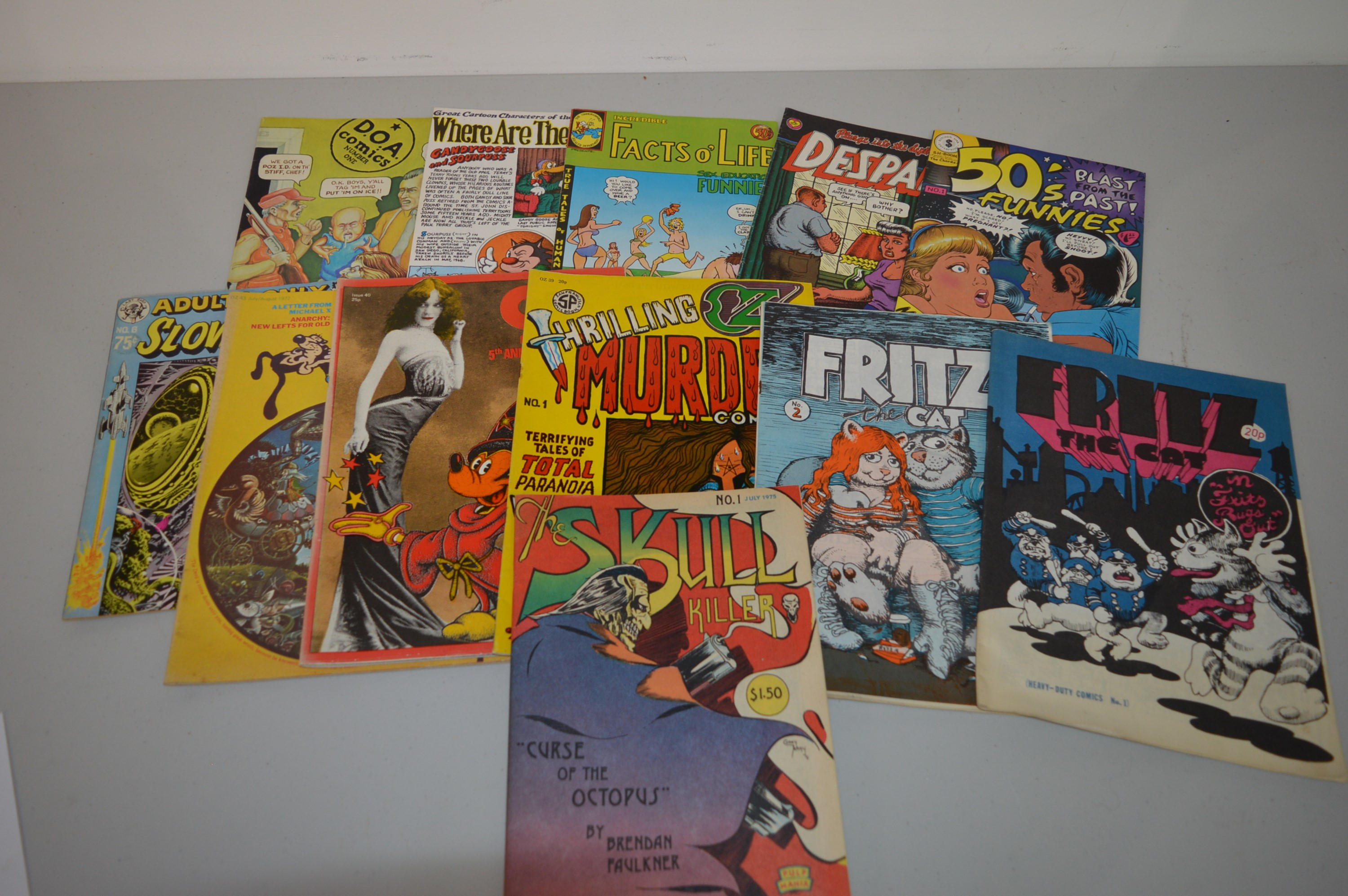 Fritz The Cat; and other magazines and comix.