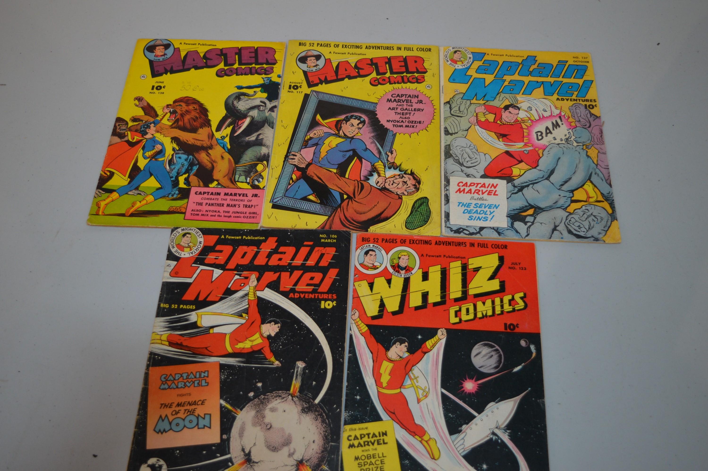 Master, Whiz and Captain Marvel Adventures comics.
