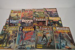 Curtis Magazine Horror titles.