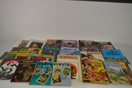 Comics-related books and graphic novels.