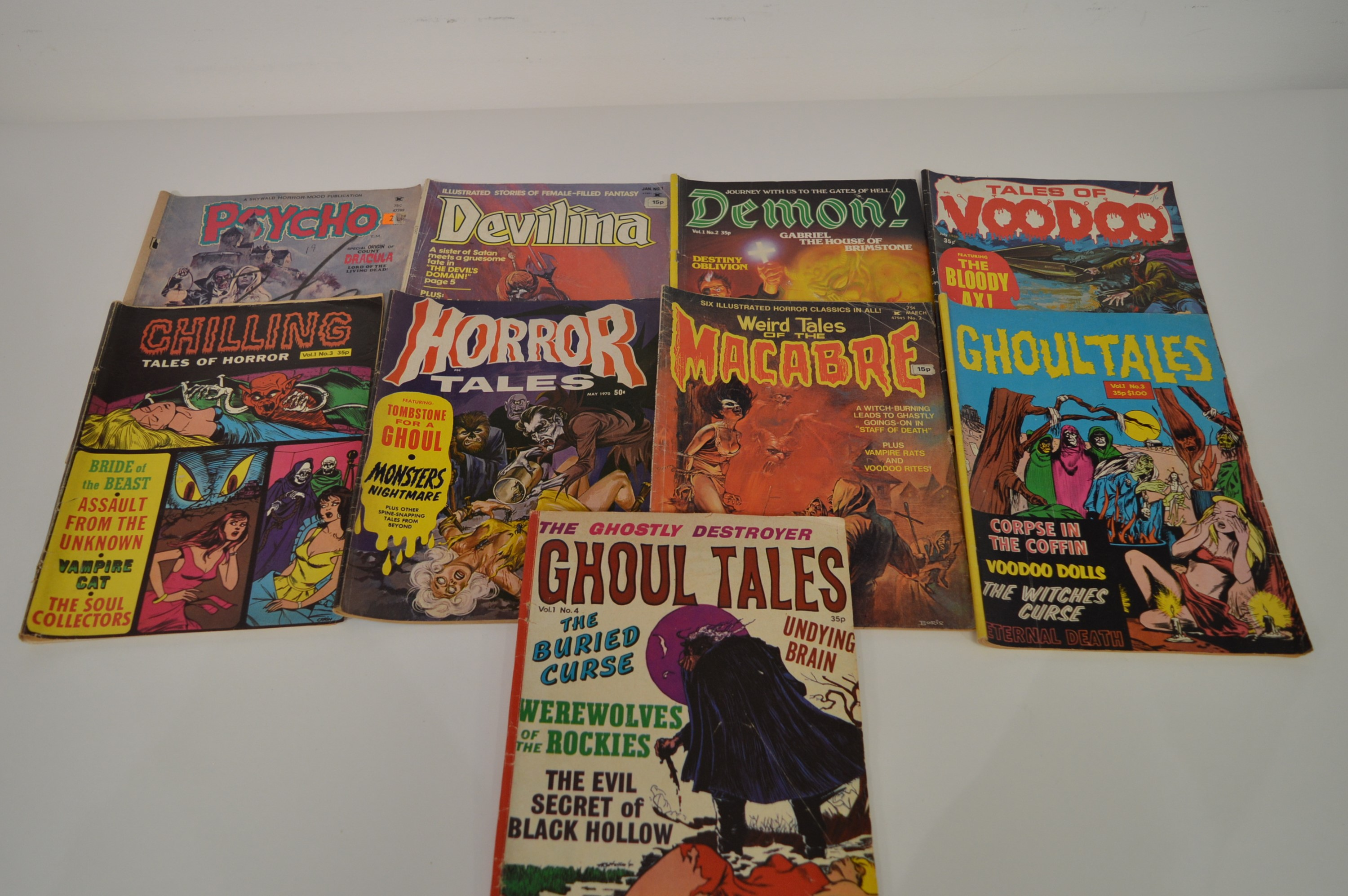 Ghoul Tales by Portman; and other horror magazines.
