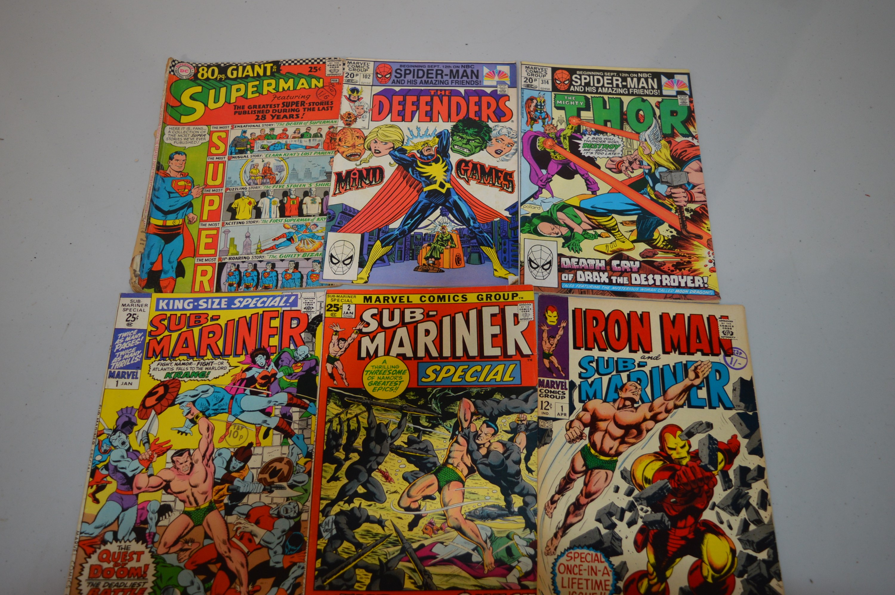Iron Man and Sub-Mariner; and other comics.