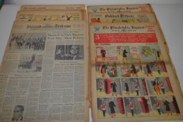The Philadelphia Inquirer Comics Section; and other American comic sections.