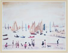 Laurence Stephen Lowry - colour photolithograph.