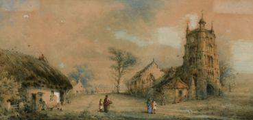 18th Century British School - watercolour