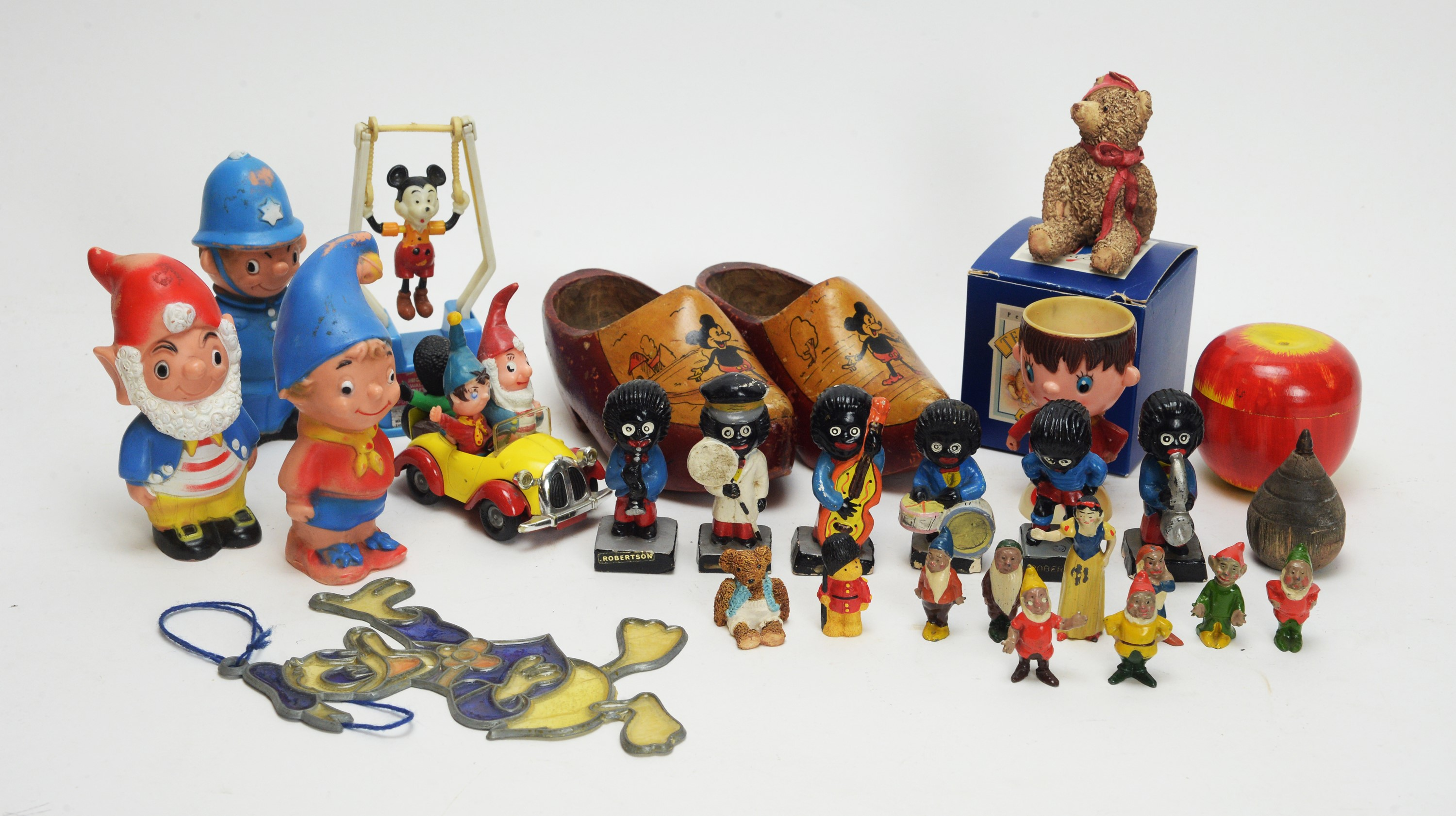 """A diecast """"Noddy's Car"""" by Corgi; and other miniature toys, various."""