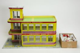 """Mettoy, England: a doll's """"Emergency Ward 10"""" General Hospital, and accessories."""