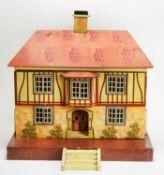 D.H. Wagner & Sohn, Grunhainichen, Germany: a doll's Tudor style cottage.