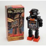 "A battery-operated 1960's toy robot ""Mr. Zerox""."