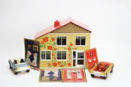 Lundby, Sweden: a two-storey modern Continental doll's house; doll's furniture and accessories.