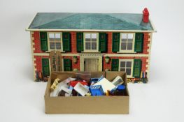 Mettoy, England: A doll's house, furniture and furnishings.