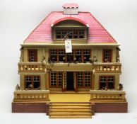 Moritz Gottstchalk, Marienberg, Germany: Model No. 6337 Red Roof doll's house,