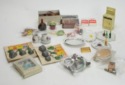 Crescent Toys: doll's pots and pans; tea sets; and other doll's accessories.
