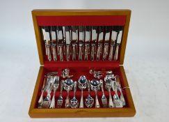 A canteen of epns bead-edge flatware for twelve settings