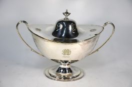 A late Victorian Adam Revival electroplated soup tureen and cover