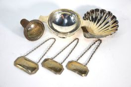 A silver quaich and other items