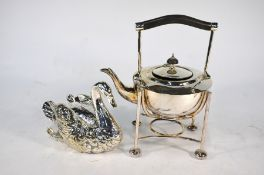A Victorian plated on copper spoon-warmer