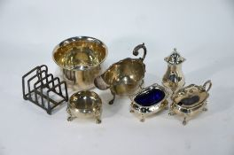 Silver tableware and other items