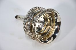 Regency silver wine funnel