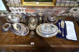 Mixed silver plate items