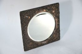 Edwardian silver easel mirror