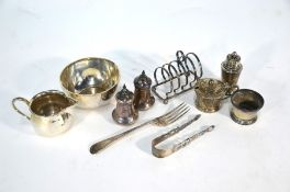Various oddments of silver