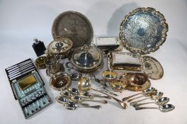 A quantity of electroplated wares