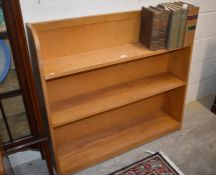 A beech open bookcase