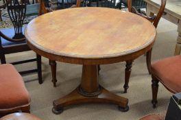 A 19th century mahogany breakfast table