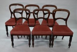 Six Victorian mahogany dining side chairs (6)