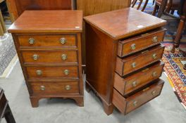 A pair of good quality mahogany bedside cabinets
