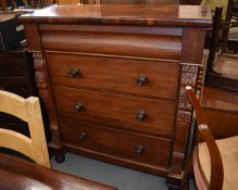 A late Victorian large mahogany chest