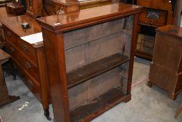 A 19th century mahogany open bookcase