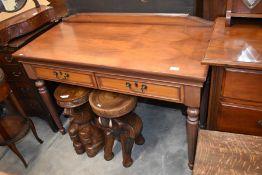 A walnut hall table