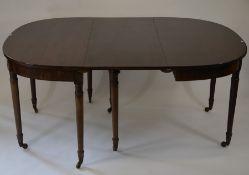 A George III mahogany dining table