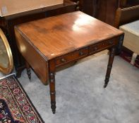 A 19th century mahogany and crossbanded rosewood sofa table