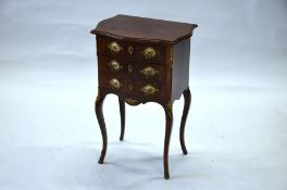 A French style mahogany bedside chest