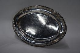 George IV silver platter