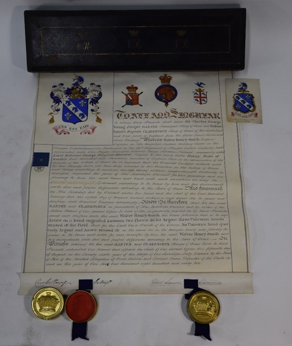 Victorian Grant of Arms - Image 11 of 18