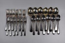 Old English pattern silver flatware