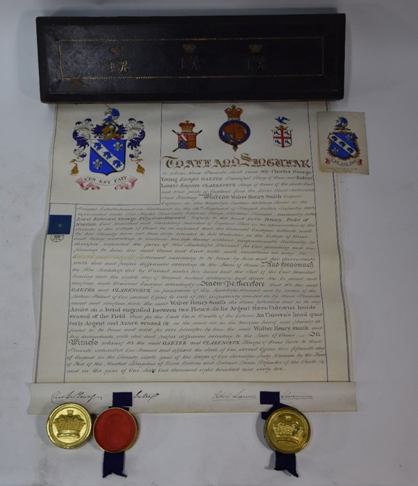 Victorian Grant of Arms - Image 10 of 18