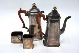 Heavy Quality Silver Four-Piece Coffee Service