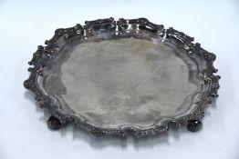 Garrard & Co heavy silver salver