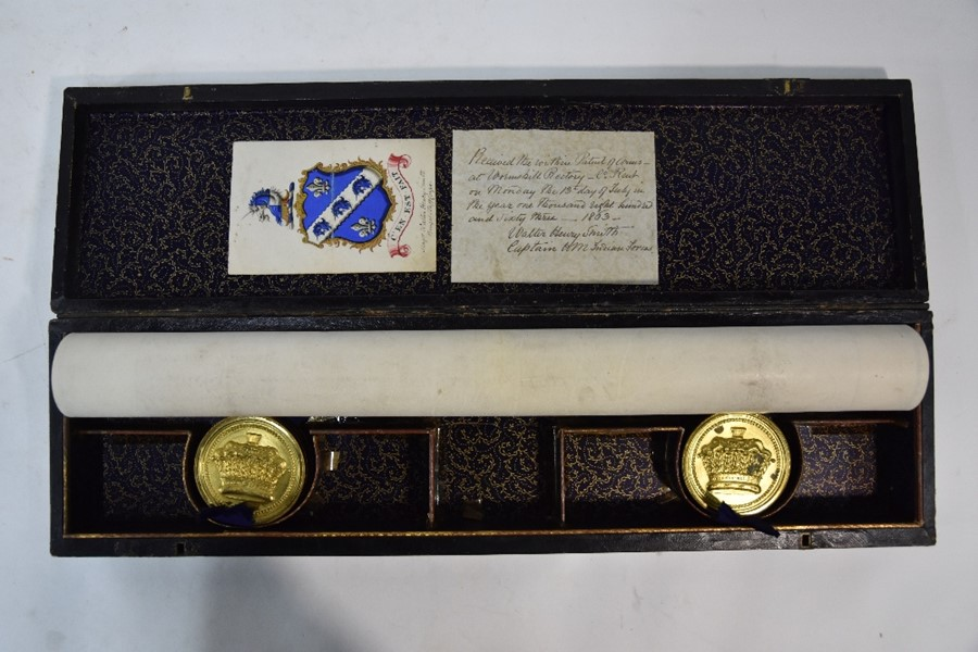 Victorian Grant of Arms - Image 9 of 18