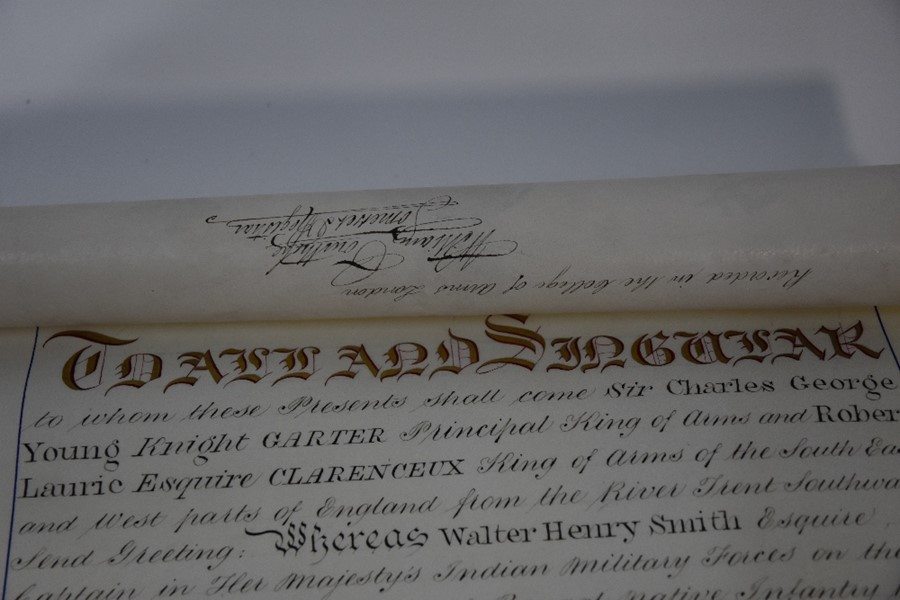 Victorian Grant of Arms - Image 7 of 18