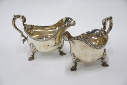 Pair of William IV Silver Sauce Boats