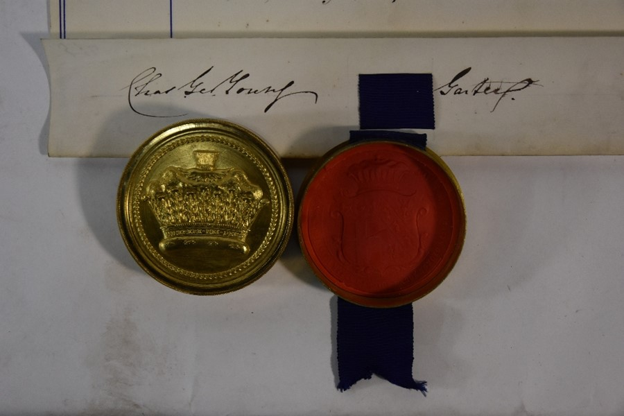 Victorian Grant of Arms - Image 3 of 18