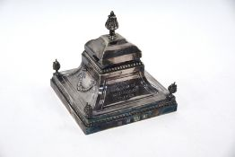 Horse Racing Goodwood silver trophy inkwell